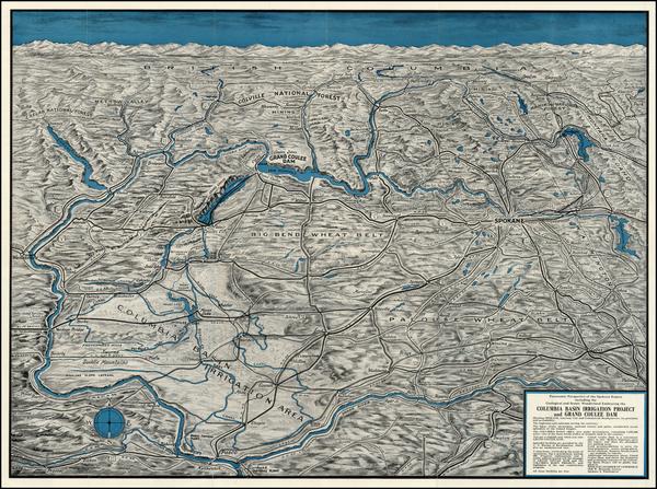 76-Washington Map By Spokane Chamber of Commerce