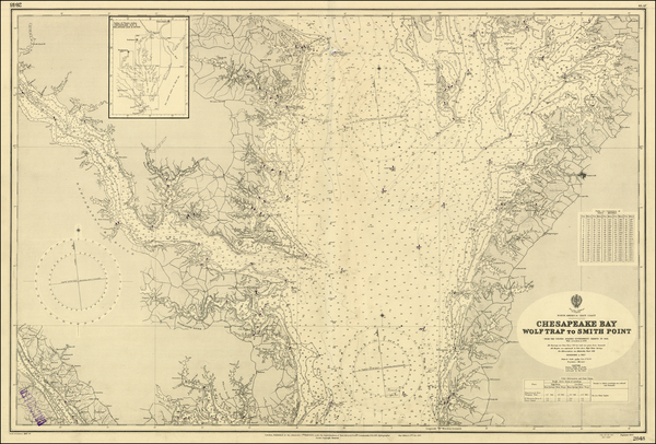 100-Mid-Atlantic and Southeast Map By British Admiralty