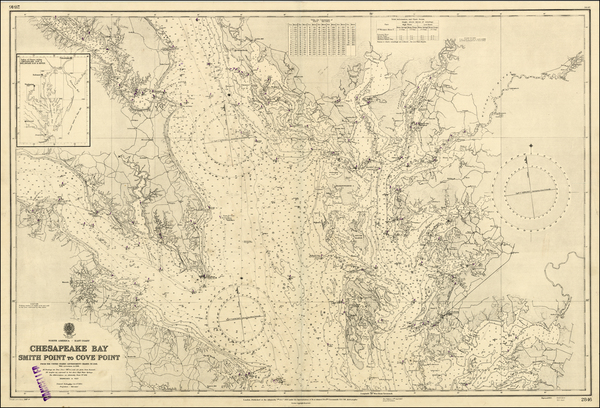 11-Mid-Atlantic and Southeast Map By British Admiralty