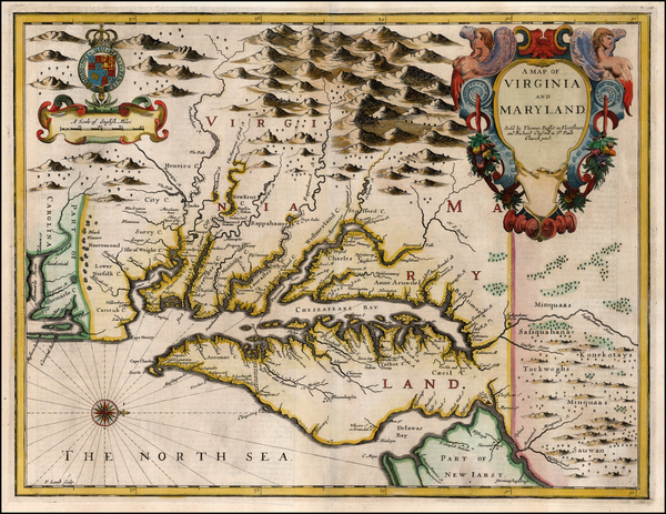97-Mid-Atlantic and Southeast Map By John Speed