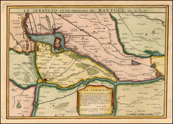 12-Northern Italy Map By Nicolas de Fer