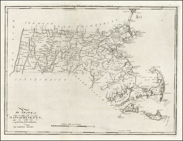 100-New England and Massachusetts Map By Mathew Carey