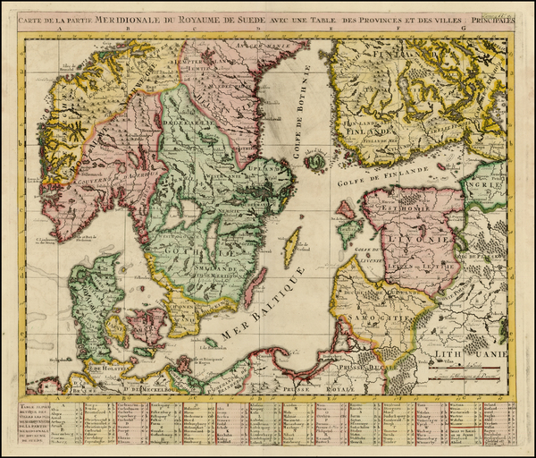 23-Baltic Countries and Scandinavia Map By Henri Chatelain