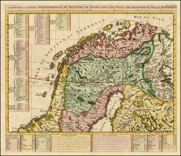 74-Scandinavia Map By Henri Chatelain