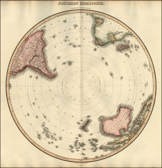 45-Southern Hemisphere and Polar Maps Map By John Pinkerton