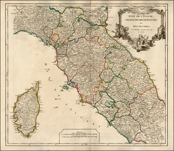 71-France, Italy and Balearic Islands Map By Didier Robert de Vaugondy