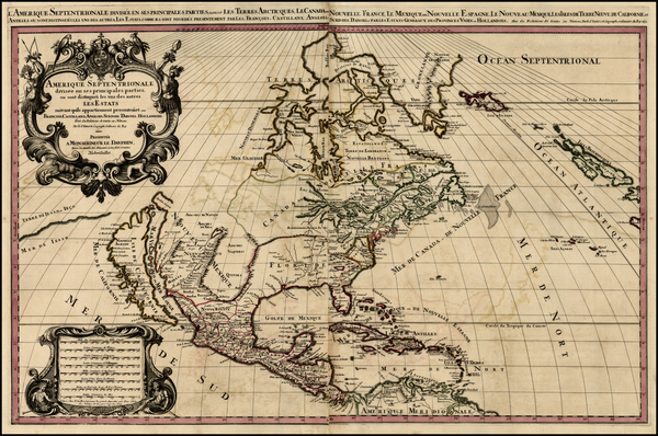 39-North America and California Map By Alexis-Hubert Jaillot