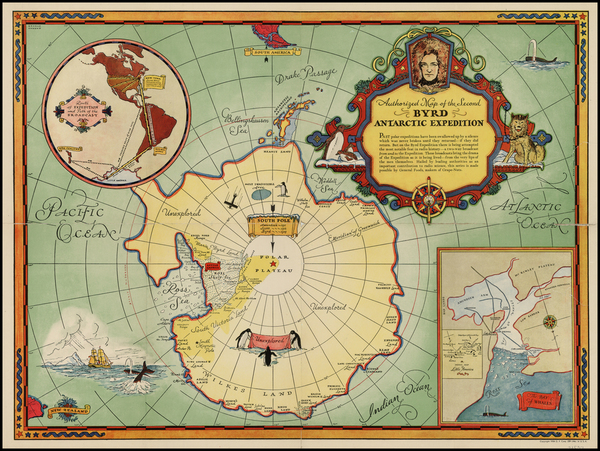 1-Southern Hemisphere and Polar Maps Map By General Foods Corporation