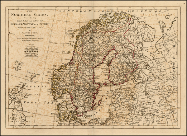 93-Baltic Countries and Scandinavia Map By Samuel Dunn