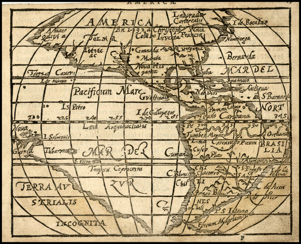 72-Western Hemisphere, North America, South America, Pacific, Australia, Oceania and America Map B