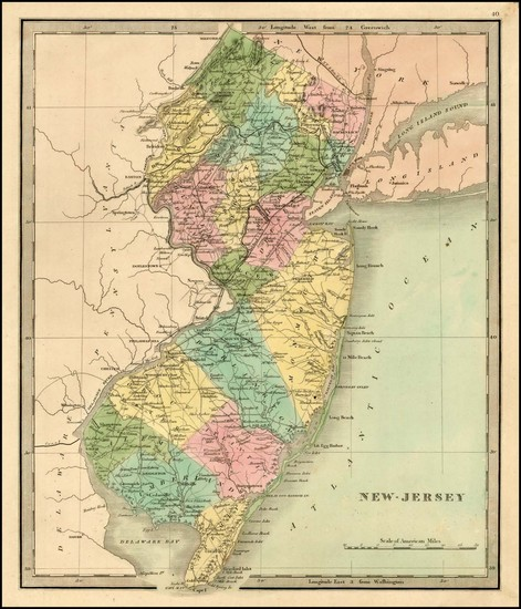 63-Mid-Atlantic and New Jersey Map By Jeremiah Greenleaf