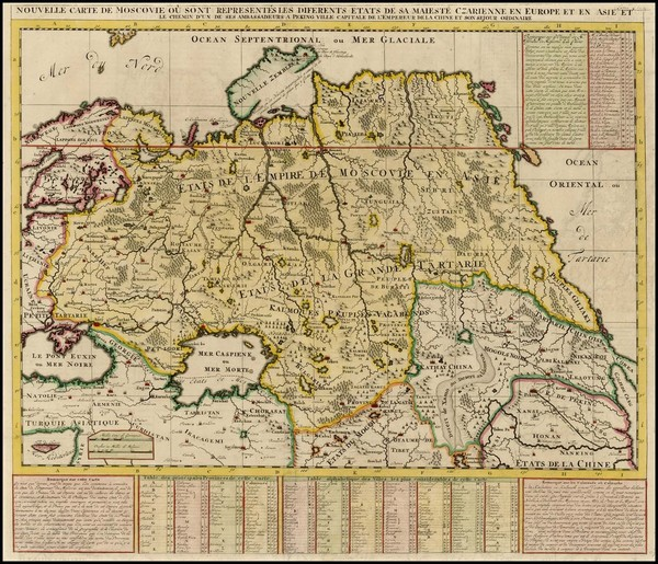 69-Russia, Ukraine, Central Asia & Caucasus and Russia in Asia Map By Henri Chatelain
