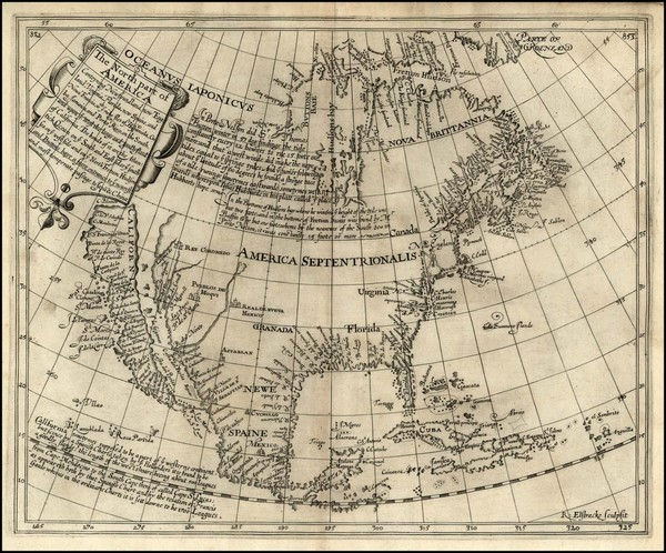32-United States, Southeast, North America and California Map By Henry Briggs
