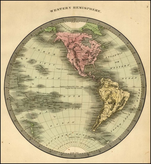 94-Western Hemisphere, South America and America Map By Jeremiah Greenleaf