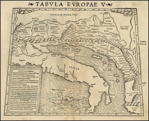 91-Balkans and Italy Map By Sebastian Munster