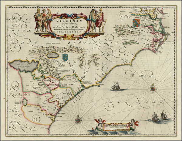 73-Southeast Map By Willem Janszoon Blaeu