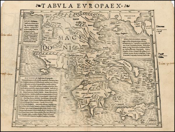 67-Greece, Turkey and Balearic Islands Map By Sebastian Munster