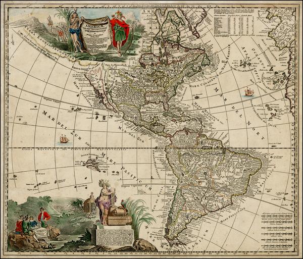 79-South America, California and America Map By Adam Friedrich Zurner