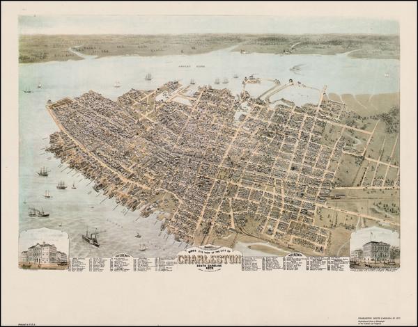 80-Southeast Map By Currier  &  James Merritt Ives