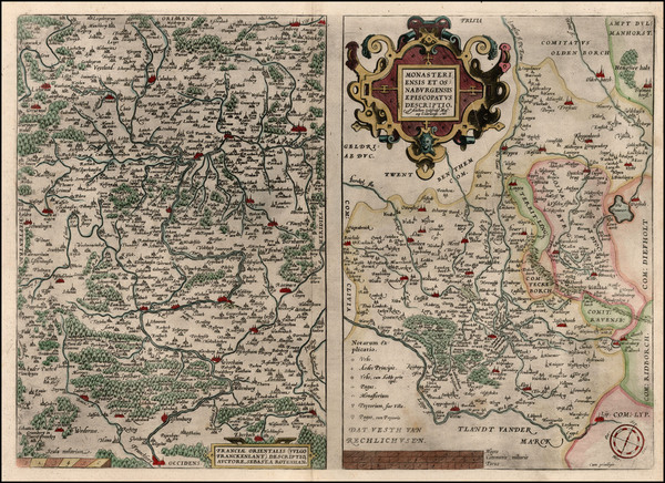 55-Germany Map By Abraham Ortelius