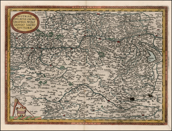 15-Austria, Hungary and Czech Republic & Slovakia Map By Abraham Ortelius