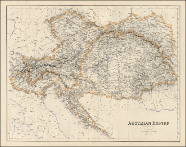 33-Austria, Hungary, Czech Republic & Slovakia and Balkans Map By Archibald Fullarton & Co