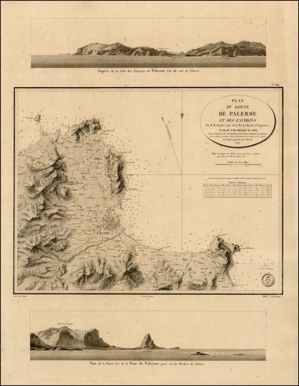 35-Italy Map By Depot de la Marine