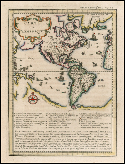 3-South America and America Map By Anonymous