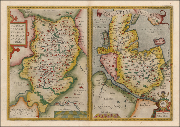 96-Germany Map By Abraham Ortelius