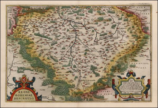 52-Czech Republic & Slovakia Map By Abraham Ortelius