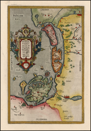 97-Germany and Poland Map By Abraham Ortelius