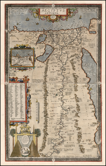 91-Middle East, Egypt and North Africa Map By Abraham Ortelius
