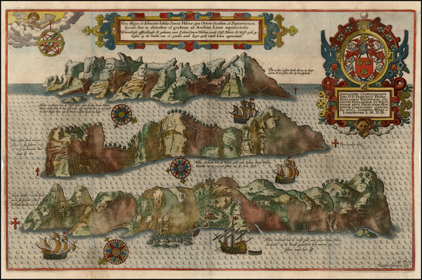 64-Atlantic Ocean and African Islands, including Madagascar Map By Jan Huygen Van Linschoten