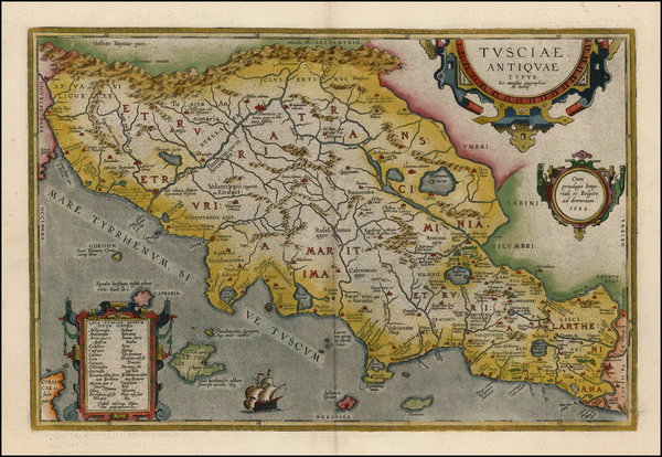 33-Italy Map By Abraham Ortelius