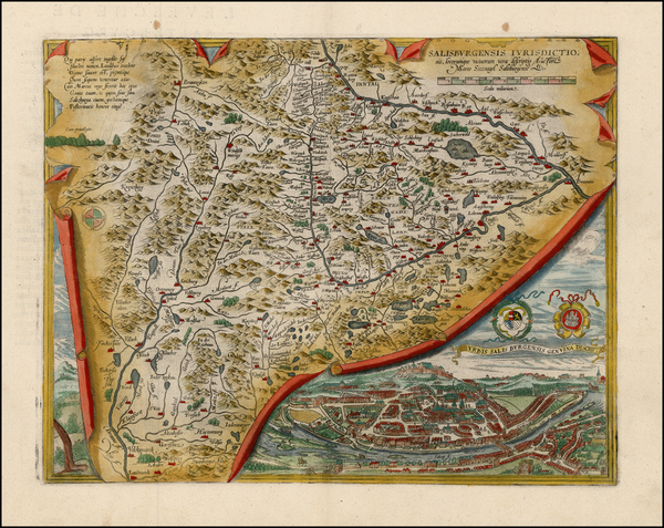58-Austria Map By Abraham Ortelius
