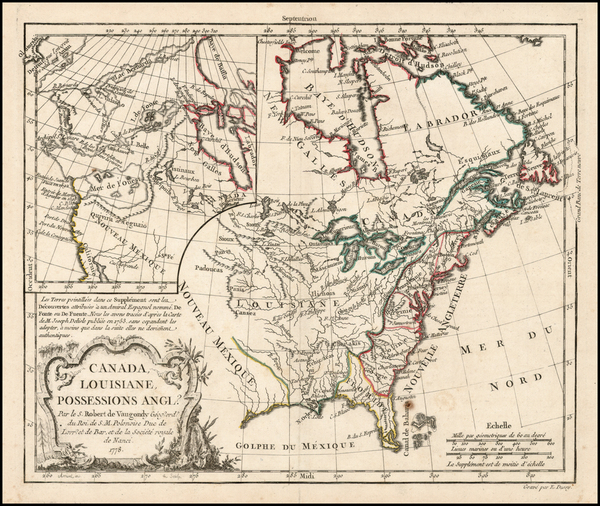 35-United States, Alaska and Canada Map By Charles Francois Delamarche
