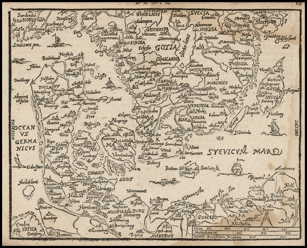 67-Netherlands, Poland, Baltic Countries and Scandinavia Map By Zacharias Heyns