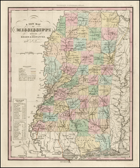 82-South and Mississippi Map By Henry Schenk Tanner