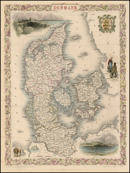 67-Scandinavia Map By John Tallis