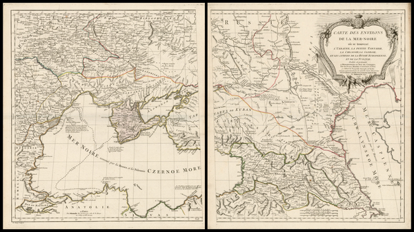 25-Russia and Ukraine Map By Charles Francois Delamarche