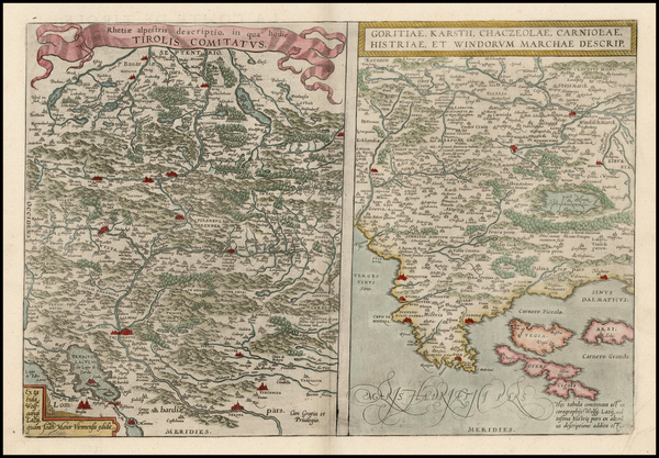 54-Austria, Balkans and Italy Map By Abraham Ortelius