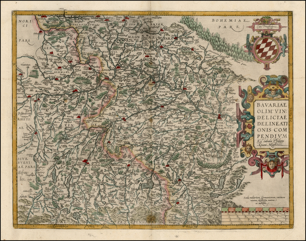 32-Germany Map By Abraham Ortelius