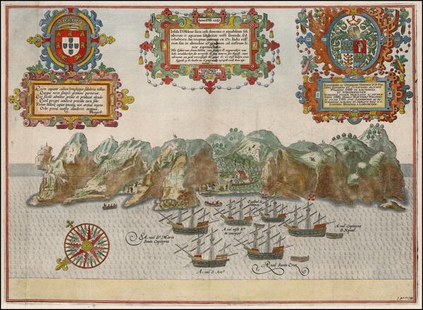 15-Atlantic Ocean, West Africa and African Islands, including Madagascar Map By Jan Huygen Van Lin