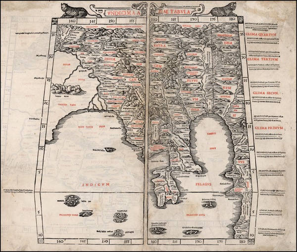 85-China, Southeast Asia, Other Islands and Central Asia & Caucasus Map By Bernardus Sylvanus
