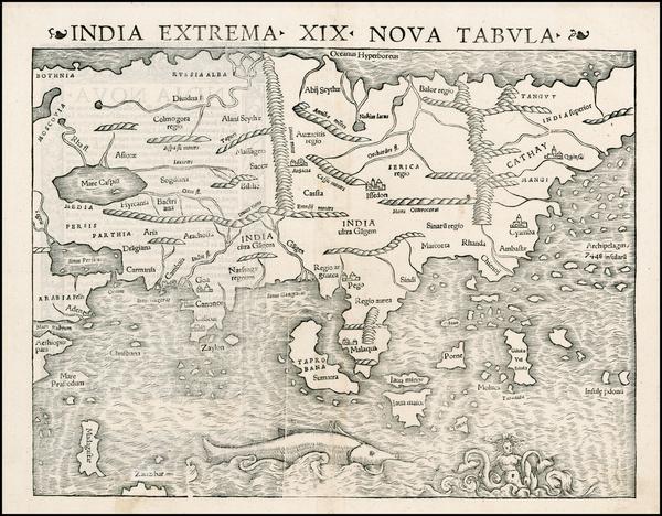 64-Asia Map By Sebastian Munster