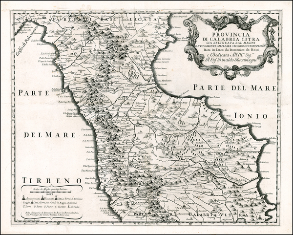 43-Italy and Southern Italy Map By Giacomo Giovanni Rossi