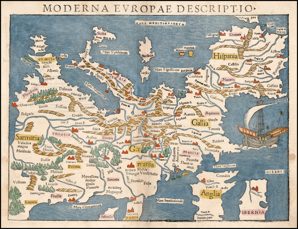 37-Europe and Europe Map By Sebastian Munster