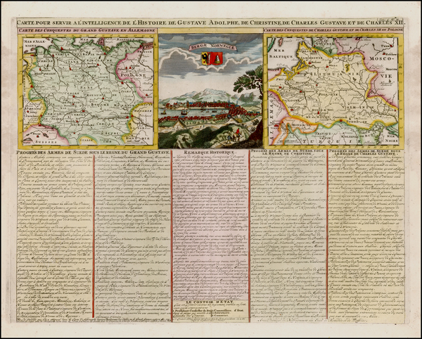 39-Germany, Poland, Ukraine, Baltic Countries and Scandinavia Map By Henri Chatelain