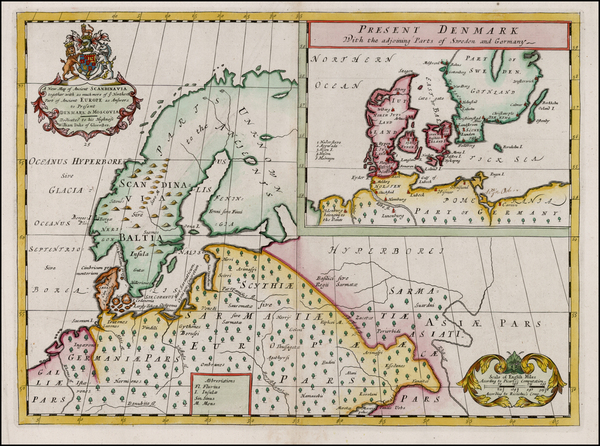 76-Baltic Countries and Scandinavia Map By Edward Wells