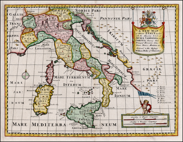 3-Italy and Balearic Islands Map By Edward Wells